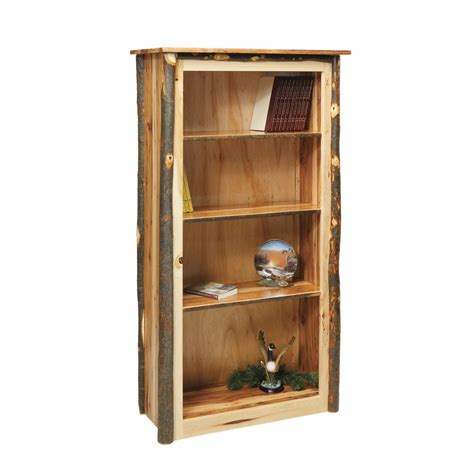 rustic bookshelves rustic bookcase amish crafted furniture