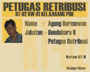 contoh tanda pengenal petugas retribusi agung pakrt02