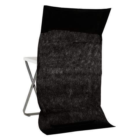 housse dossier de chaise intiss 233 noir les 10 achat housses