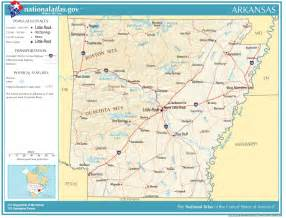 united states geography for arkansas
