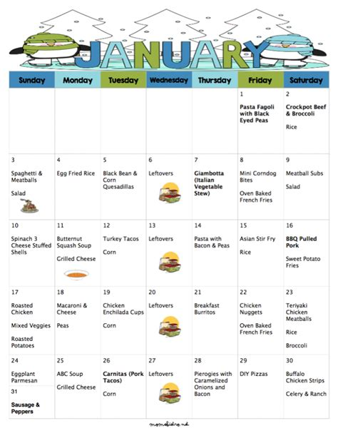 new year food list a meal plan to save you money on groceries in the new year