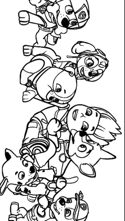 paw patrol coloring sheets free coloring pages of paw patrol