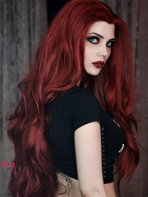 reddish brown synthetic lace front wig with popular wavy