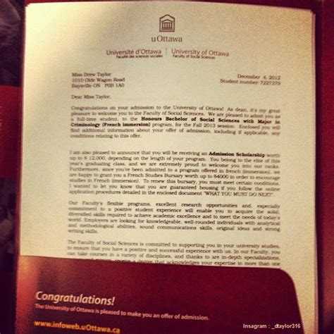 Offer Letter Of Canadore College of ta acceptance letter pictures to pin on