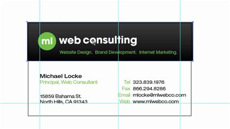 how to setup and design business cards in adobe