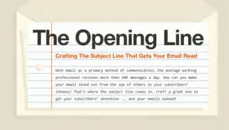 how to write the email subject line infographic