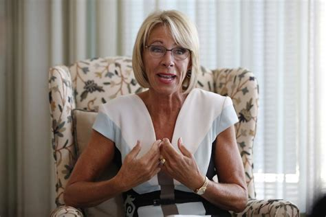 betsy devos job betsy devos comes out of hiding to complain critics are