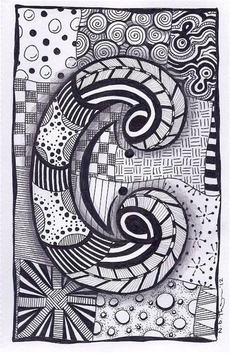 zentangle zebra pattern letter c zebra letters name bunting zentangle by