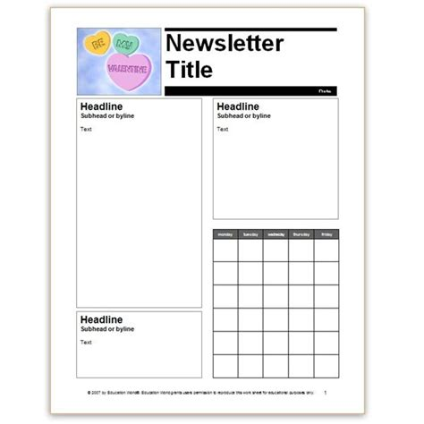 free printable preschool newsletter templates free printable preschool monthly newsletter template quotes