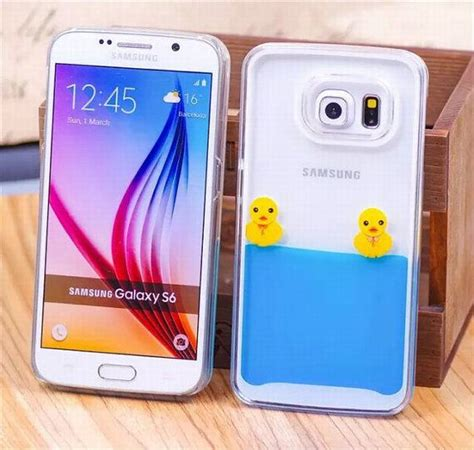 Casing Handphone Custom Hardclear Samsung S6 Edge From Japan samsung galaxy s6 clear rubber duck by uelement galaxy s6 cases