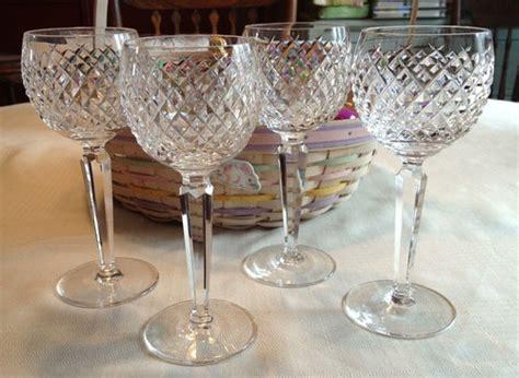 vintage waterford crystal wine glasses alana by 4 fabulous vintage crystal waterford alana hock wine