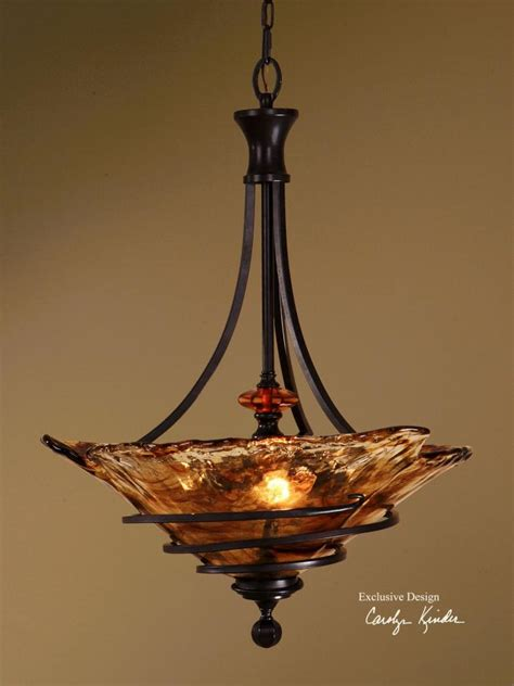 Uttermost Oil Rubbed Bronze 3 Light Bowl Pendant From The
