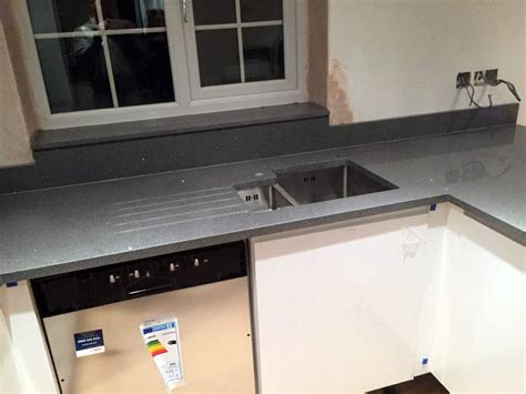 Quartz Kitchen Worktops Review by Grigio Scuro Stella Quartz Rock And Co Granite Ltd
