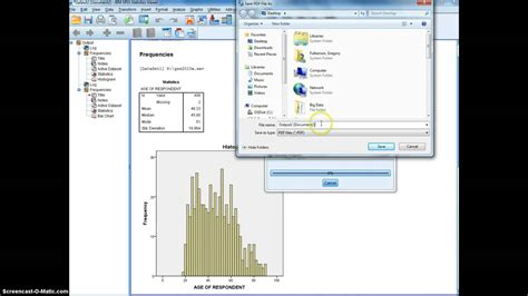 tutorial spss youtube tutorial spss output to pdf document youtube