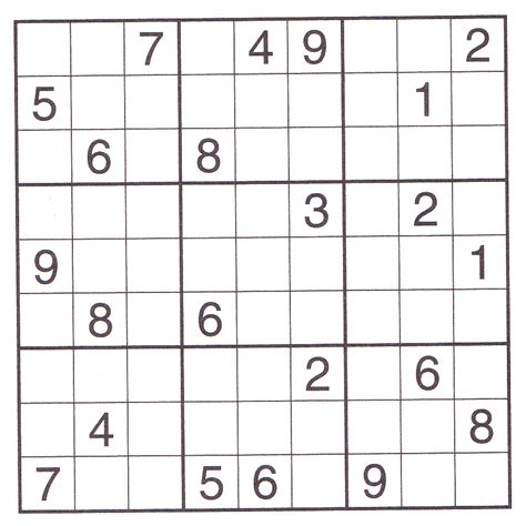 printable big sudoku games 7 best images of printable suduko worksheets printable
