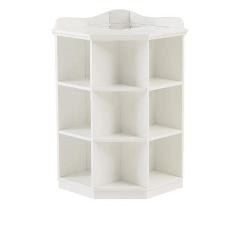 home decorators collection kids 3 shelf white corner book