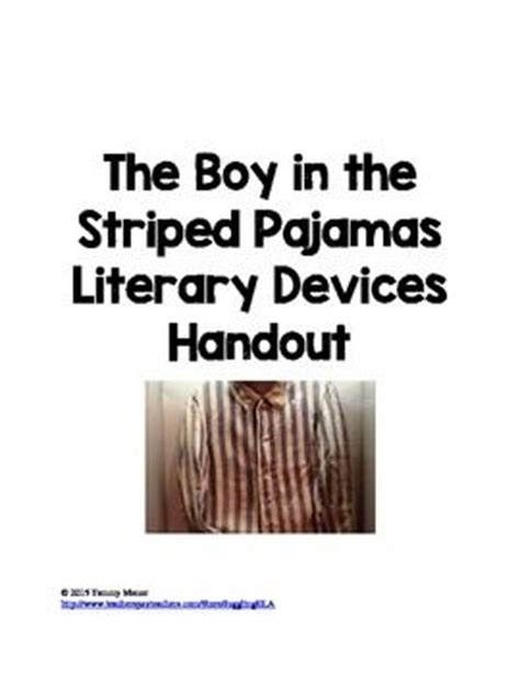 themes in the book boy in the striped pajamas the boy in the striped pajamas literary devices handout