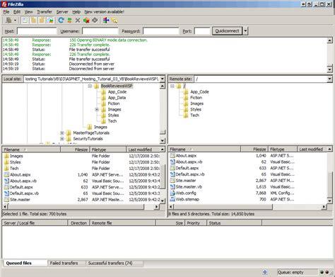 tutorial web service vb net deploying your site using an ftp client vb the asp net