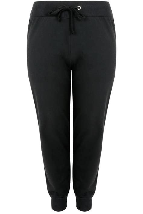 Kode 302 Jogger Jersy 1 black basic cotton jersey joggers plus size 16 to 36