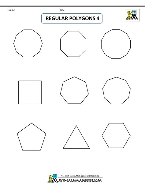 printable polygon shapes printable shapes 2d and 3d