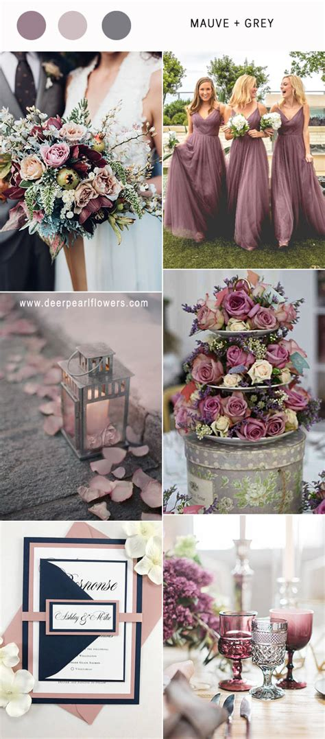 Fall 2008 Trend Gray And Purple by Best 6 Mauve Wedding Color Combos For 2018 Deer Pearl