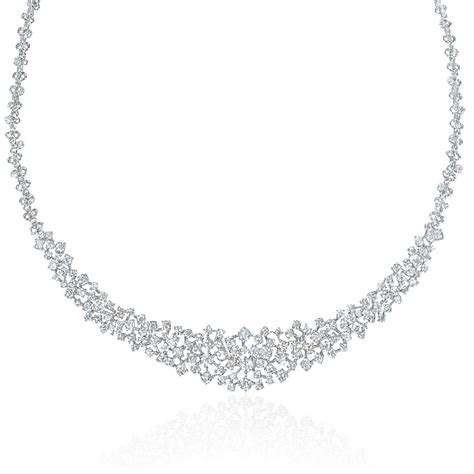 7 68ct 18k white gold necklace