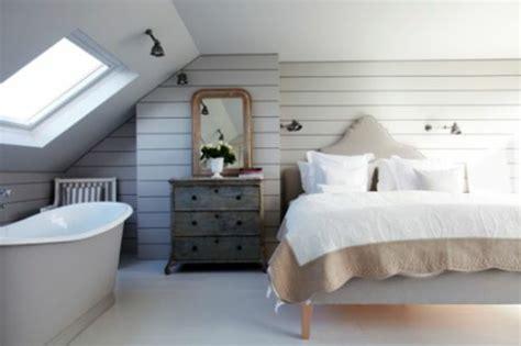ideen für kleines bad landhausschlafzimmer