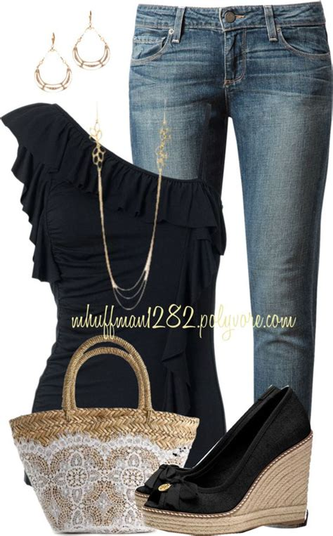 outfit ideas  wedges pretty designs
