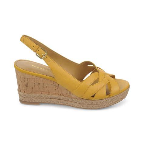 yellow sandals franco sarto kris platform wedge espadrille sandals in