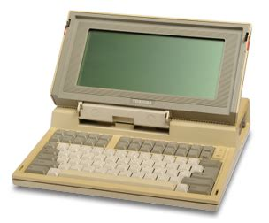 toshiba science museum : world's first laptop pc