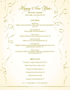 new years menu template customize 57 new year menu templates musthavemenus