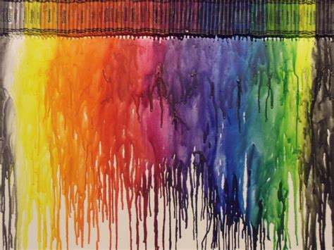 rainbow crayon melt by yecatsnz on deviantart