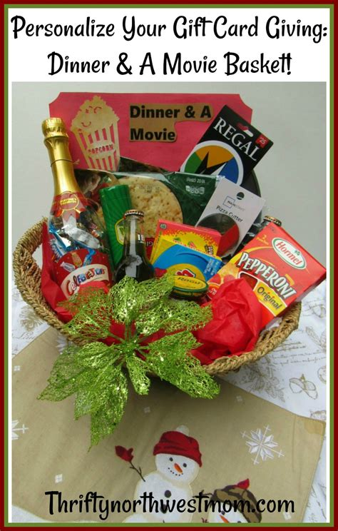 Dinner And A Movie Gift Cards - dinner a movie gift basket idea how to personalize your gift card giving thrifty nw mom
