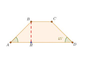 somma degli angoli interni di un triangolo isoscele area e perimetro di un trapezio isoscele con angoli adiacenti