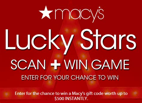 Free 500 Macy Gift Card - macy s gift card instant win game over 5 400 gift card winners 15 will win 500