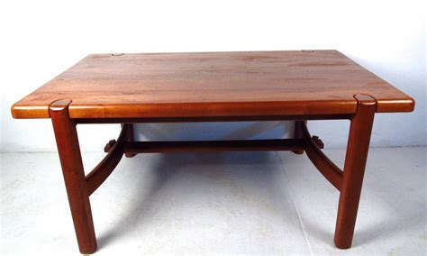 mid century modern teak dining room table for sale