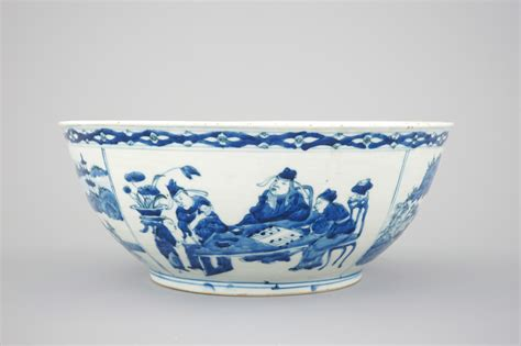 Ff Bowl Dia 23 Cm 683 a large blue and white porcelain bowl with go