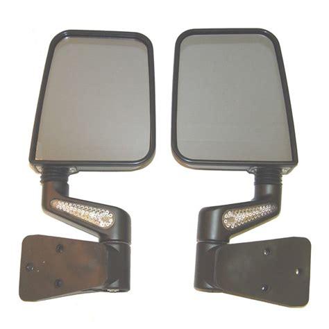 rugged ridge mirrors rugged ridge 11015 20 heated door mirror kit led signals black 87 02 jeep wrangler yj tj