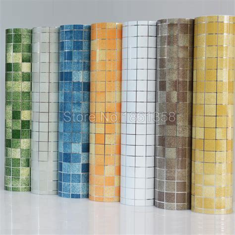 plastic bathroom wall tile aliexpress buy bathroom wall stickers pvc mosaic
