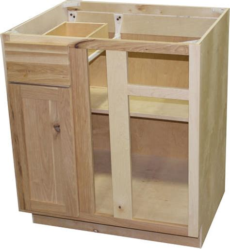 unfinished blind base cabinet quality one 36 quot x 34 1 2 quot unfinished hickory blind corner