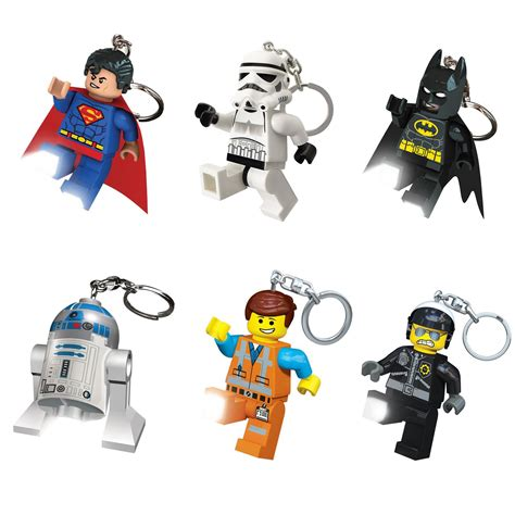 Wars Rubber Figure Set With Voice And Led lego keylight torch keyring keychain official new ebay