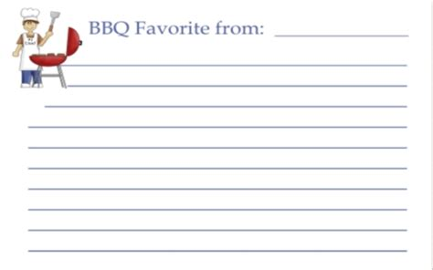 bbq recipe card template search results for weekly planner template word page 2