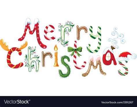 merry christmas text royalty  vector image