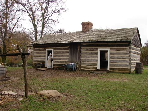 panoramio photo of lincoln log cabin state historic site
