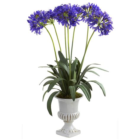 artificial floral arrangements purple african lily silk flower arrangement with urn