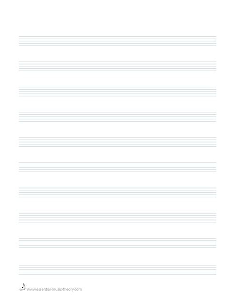 blank staff paper 10 staves for piano piano sheet music