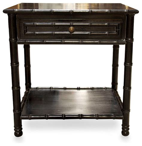 black side table with shelves bamboo open shelf side table hand rubbed black