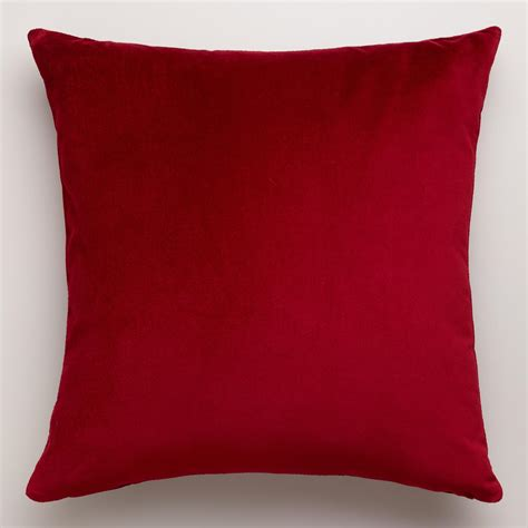 couch pillows red velvet throw pillow world market
