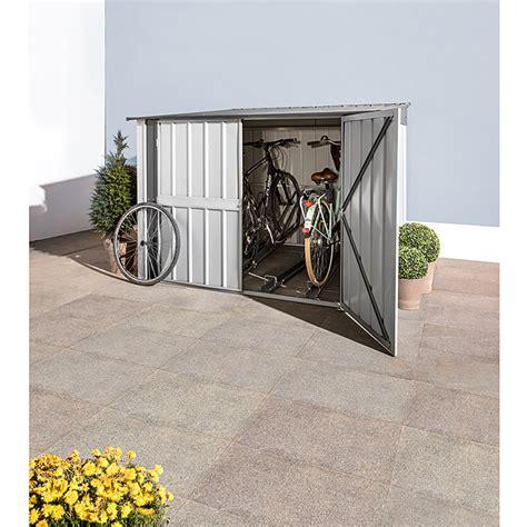 cobertizo para bicicletas cobertizo para bicicletas chapa de acero plateado gris