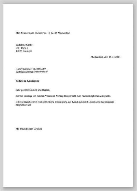 Förmlicher Briefvorlage K 252 Ndigung Vertrag Vorlage O2 Fwptc